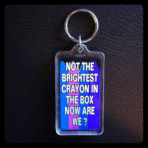 accessories not the brightest crayon in the box keychain poshmark
